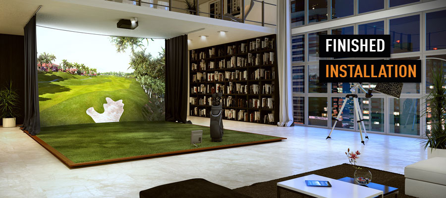 Indoor golf simulator for Interior design simulator